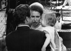 Princess Anne with her family.