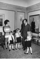 Prince Juan of Spain with his family.