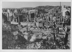 The remains of a destroyed city.
