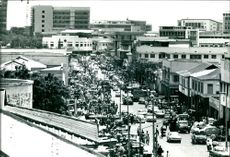 Main market of the capital, all the way down Kojo Thompson road.