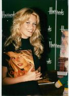 "Claudia Schiffer at a book of her autobiography ""Memories"" at Harrods"