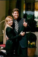David Hasselhoff with his wife Pamela Bach at the MIP-TV festival in Cannes