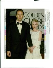 Actor Nicolas Cage with his ex-wife Patricia Arquette