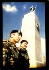 Major Tony Douglas with Sgt. Major Peter Shields.
