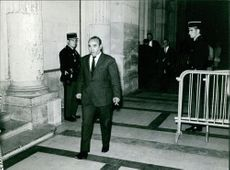Ahmed Ben Bella walking.