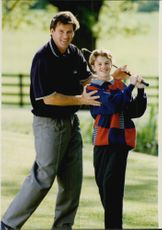Gold player Nick Faldo with