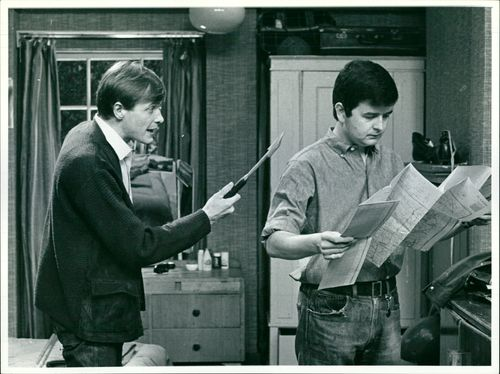Rodney Bewes with James Bolam.