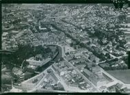 A aerial view of the Borås City in Sweden.