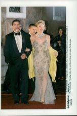 Actress Sharon Stone along with her husband Phil Bronstein during the 57th film tribunal in Venice