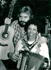 Hasse Andersson with Queen Queen of the Zydeco Music Queen of the United States
