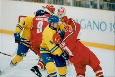 Sweden vs Belarus in the Olympic Games in 1998.