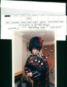 Bagpipe player.