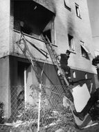 Picture of a burned apartment in Israel.
