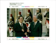 Jiang Zemin Former General Secretary of the Communist Party of China with edouard balladur.