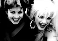 Nina Hagen and Lene Lovich at the concert hall