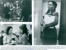 A scenes from the film The Associate with Whoopi Goldberg as Laurel Ayres, Eli Wallach as Donald Fallon, Bebe Neuwirth as Camille Scott and Lainie Kazan as Cindy Mason, 1996.