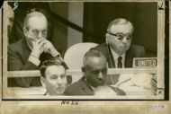 Lord George Brown with Lord Caradon during UN debate on the Middle East
