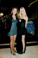 The models Carla Bruni and Karen Mulder at the World Music Awards