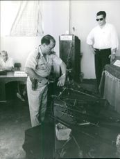 Weapons shown at trial of Regis Debray, Oct 1967