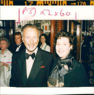 Paul Eddington Actor with his wife.