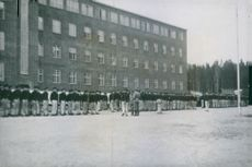 Concentration camp at Grini, about 600 male and 50 female prisoners, Norway 1943.