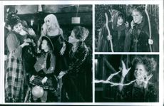 Three scenes from the film Hocus Pocus.