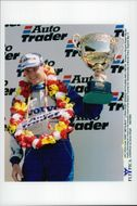 Rickard Rydell celebrates the victory in the 7th BTCC Contest.