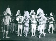 People performing together.