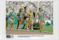 Malin Ewerlöf runs 1500 meters during the Olympic Games in Atlanta in 1996