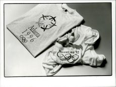 OS t-shirts from the Olympic Games in Barcelona in 1992 and the upcoming OS in Atlanta 1996