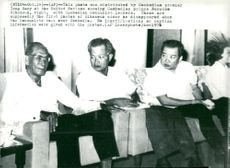 Prince Norodom Sihanouk by t.h. along with Cambodian Communist leaders