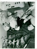 View of people working in the factory.