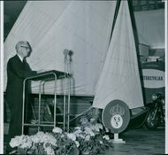 "Government Allan Nordenstam opening ceremony at the boat show ""Everything for the lake"" in Ostermans marble halls"