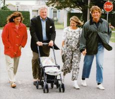 Ted Kennedy with her grandson Kiley, wife Victoria, son Ted Kennedy Junior with Mrs Kiki
