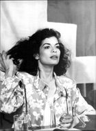 Bianca Jagger helps the Red Cross to collect money for Nicaragua