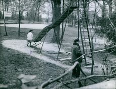 A photo of a place where Eric Peugot's Kidnapping took place, April 1960