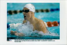 OS in Atlanta 1996. Nick Gillingham in 200m Breast Sime