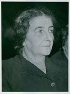 A photo of Golda Meir, Former Prime Minister of Israel, 1956.