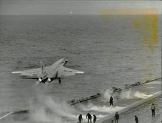 """Catapult on board The USS Independence shuttle carrier has just thrown away a """"Vigilante"""" battle plan."""