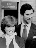 """Princess Diana along with Prince Charles on the cover of """"The Economist"""""""