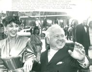 Mickey Rooney and his wife Jane Chamberlin arrive at the Oscars Gala at the Chandler Pavilion