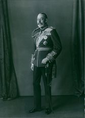1980 Portrait of the King of Britain and Emperor of India from 1910 until his death in 1936  King George V.