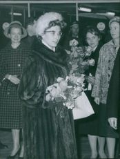 Princess Astrid of Norway have arrived by train in Brussels.
