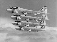 A-6 Intruder is seen formation flying during an exercise over Arizona