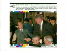 Kiichi Miyazawa with Bill Clinton