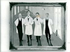 "Painting ""Colleagues"" by the doctor and artist Tor-Göran Henriksson."
