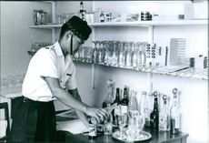 A member of Gurkhas preparing drinks.