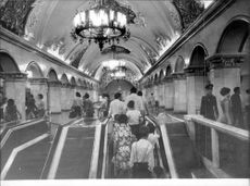 Most of the metro stations in Moscow are wonderfully ornate.