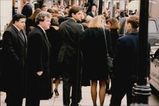 The cousins ??Teddy Kennedy Junior, William Kennedy Smith and Sydney Lawford McElvey at Rose Kennedy's funeral
