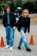 Scriptwriter David E. Kelley along with his wife Michelle Pfeiffer